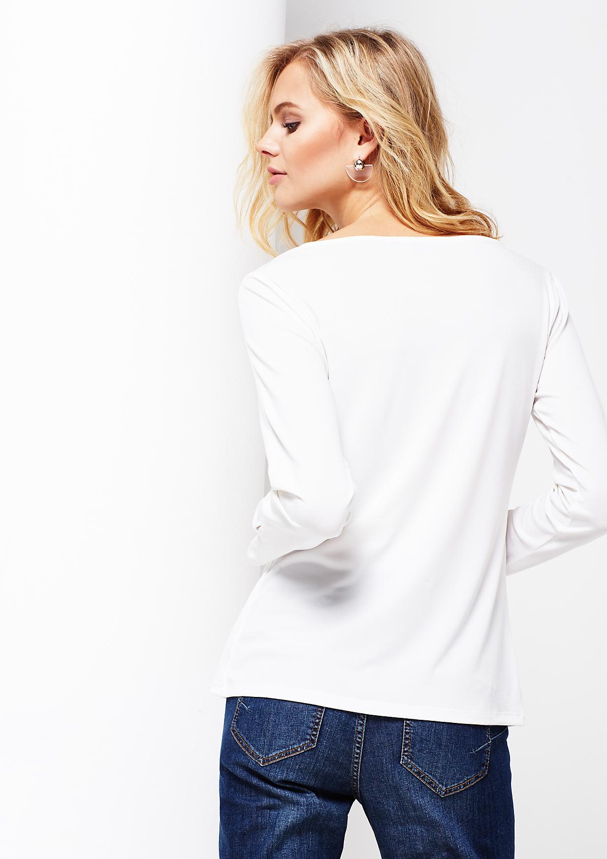 Feines Kreppshirt mit schönen Details
