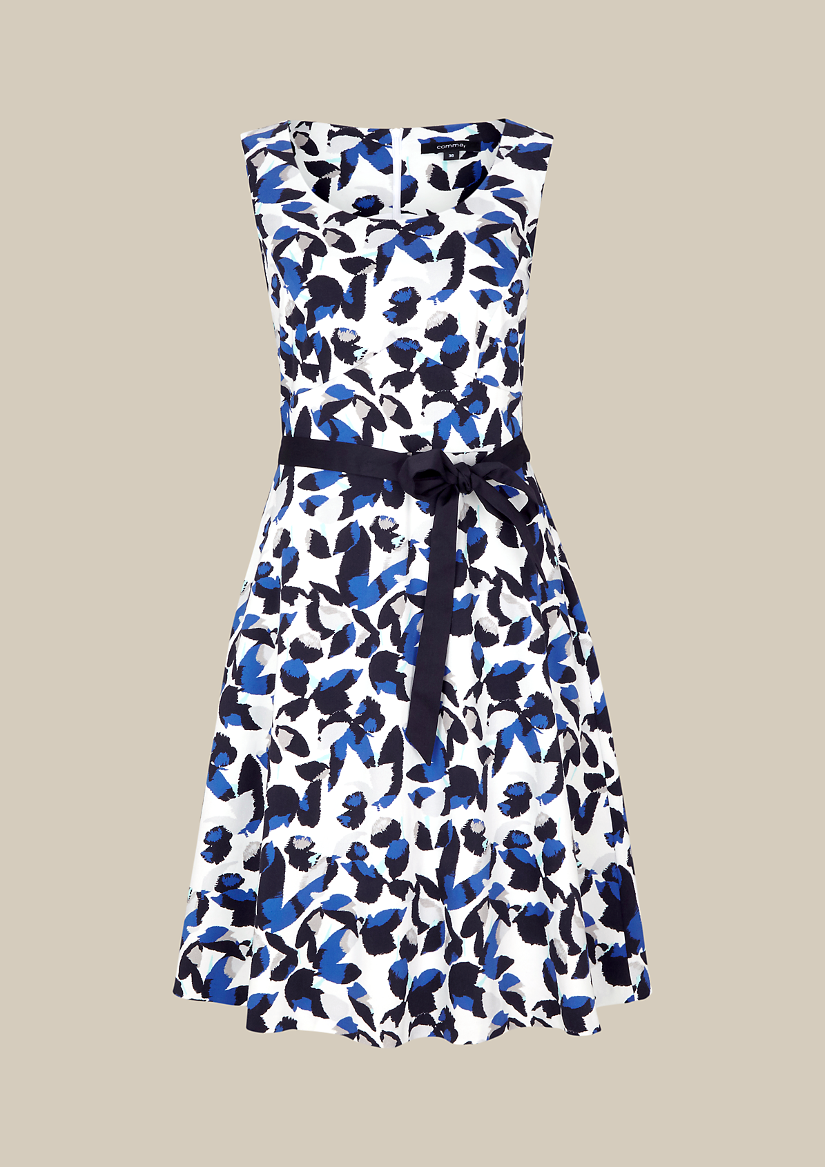 Feminines Businesskleid mit dekorativem Muster