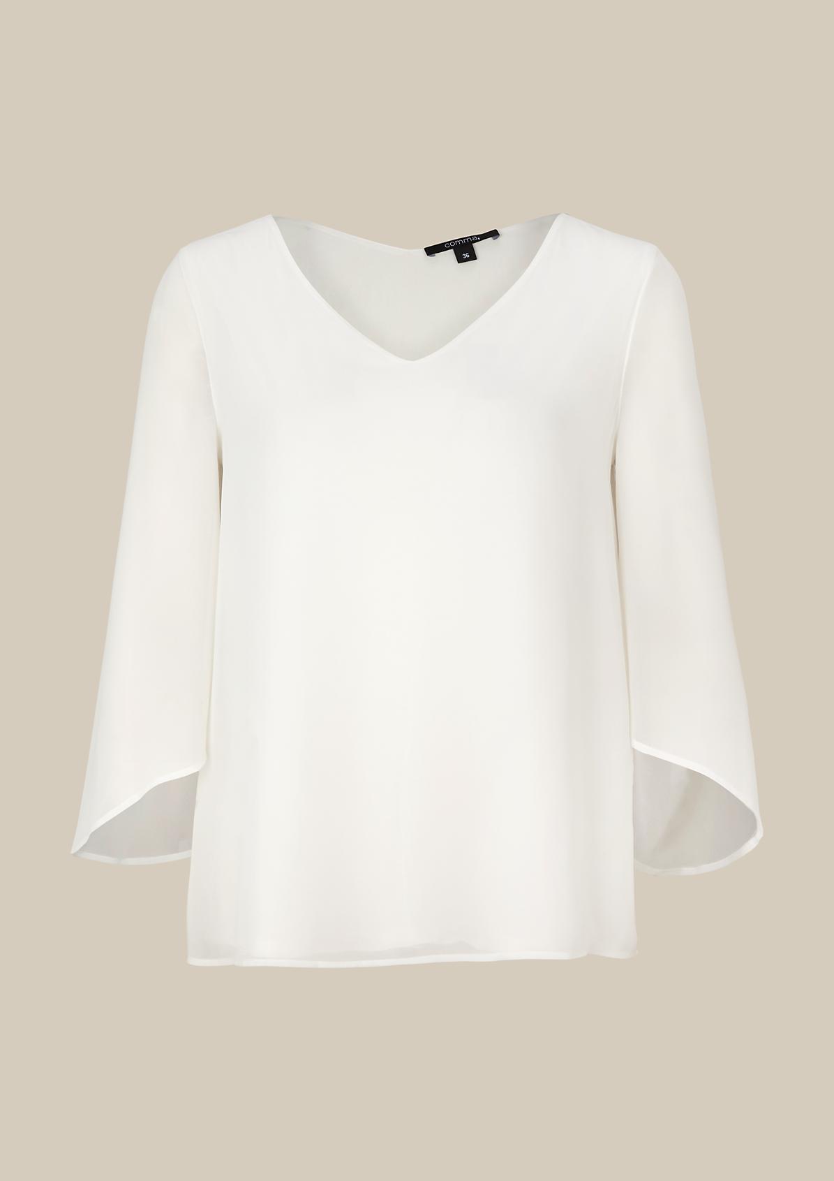 Hauchzarte 3/4-Arm Bluse mit extravaganten Details