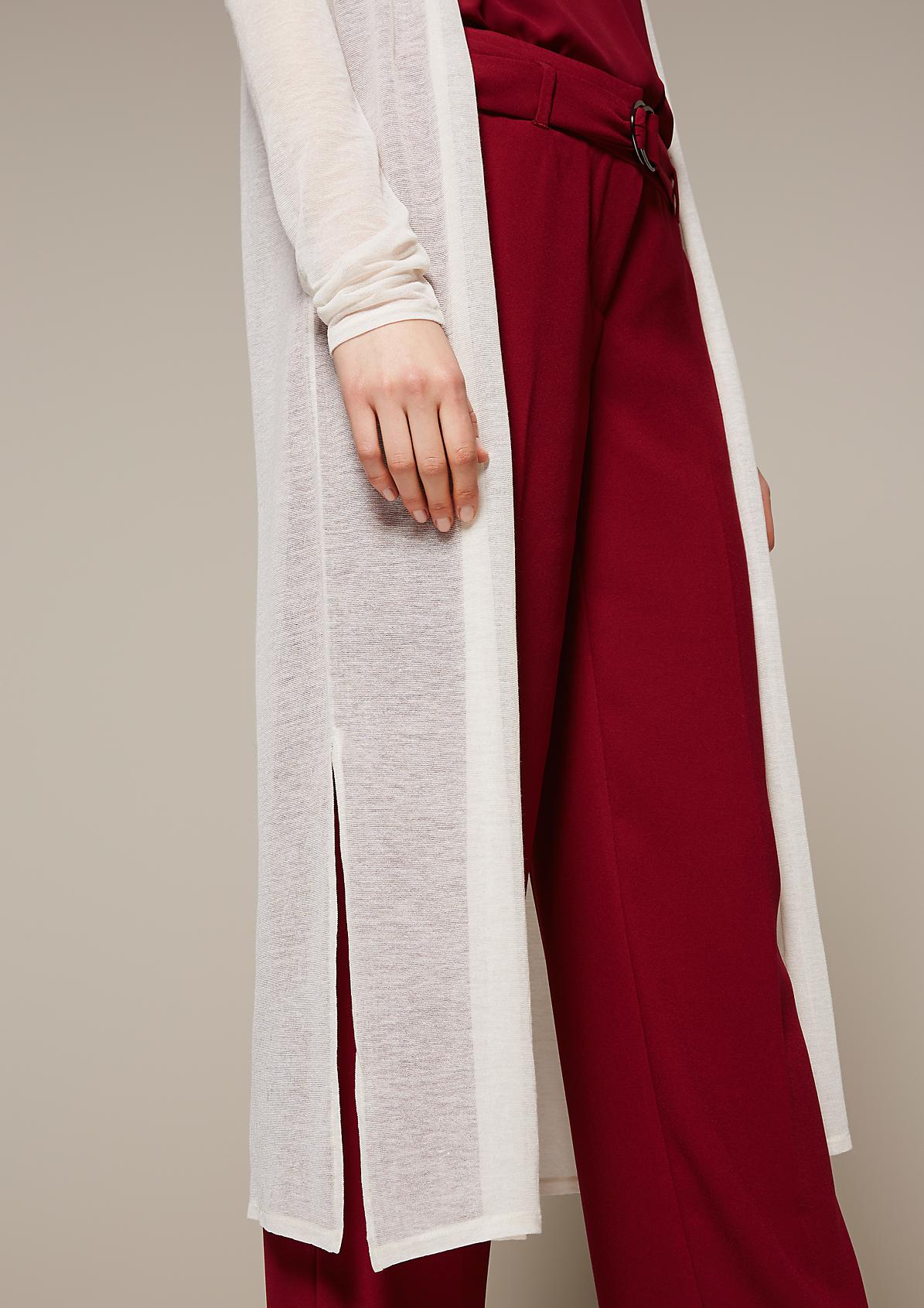 Hauchzarte Longjacke mit langen Ärmeln