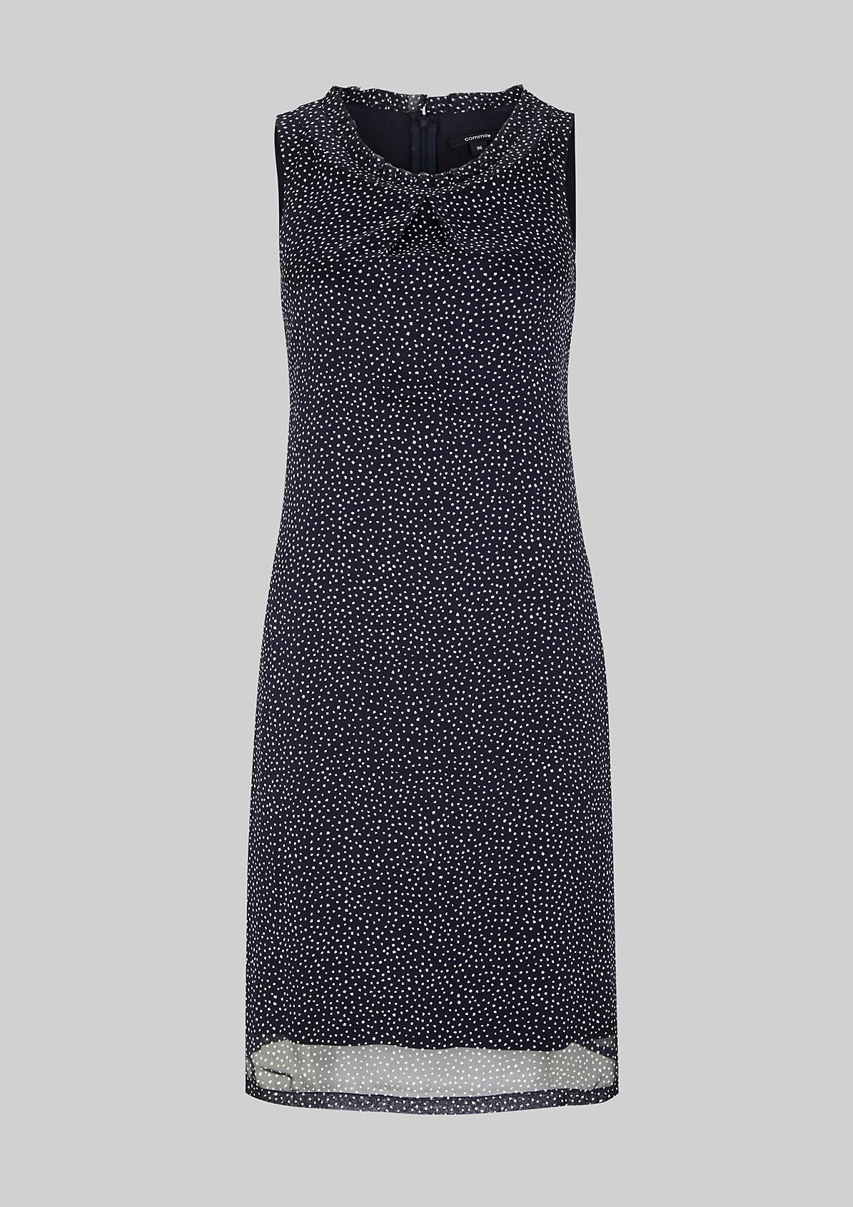 Hauchzartes Chiffonkleid mit glamourösem Details