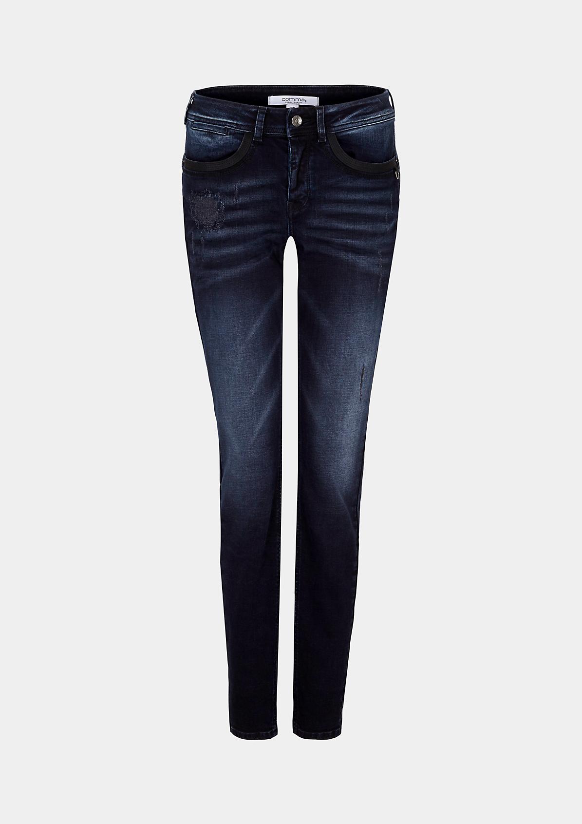 Klassische Jeans in trendiger Vintage-Optik
