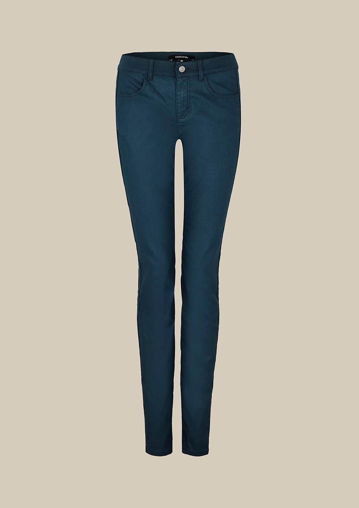 Lässige Casual-Pants mit Beschichtung