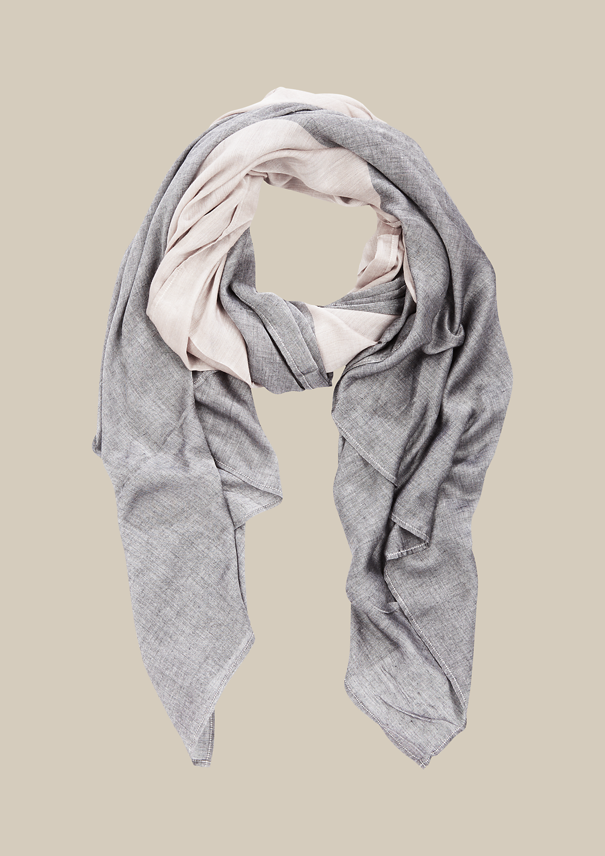 Leichter Schal mit Colourblocks