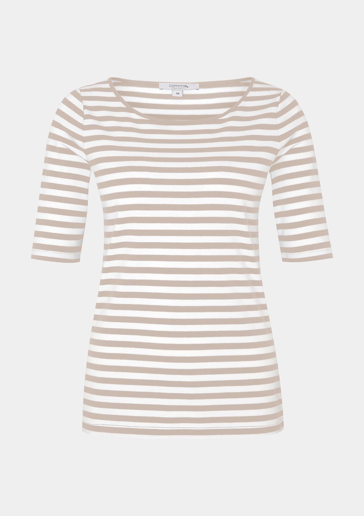 Leichtes Kurzarm-Jerseyshirt mit klassischem Streifenmuster