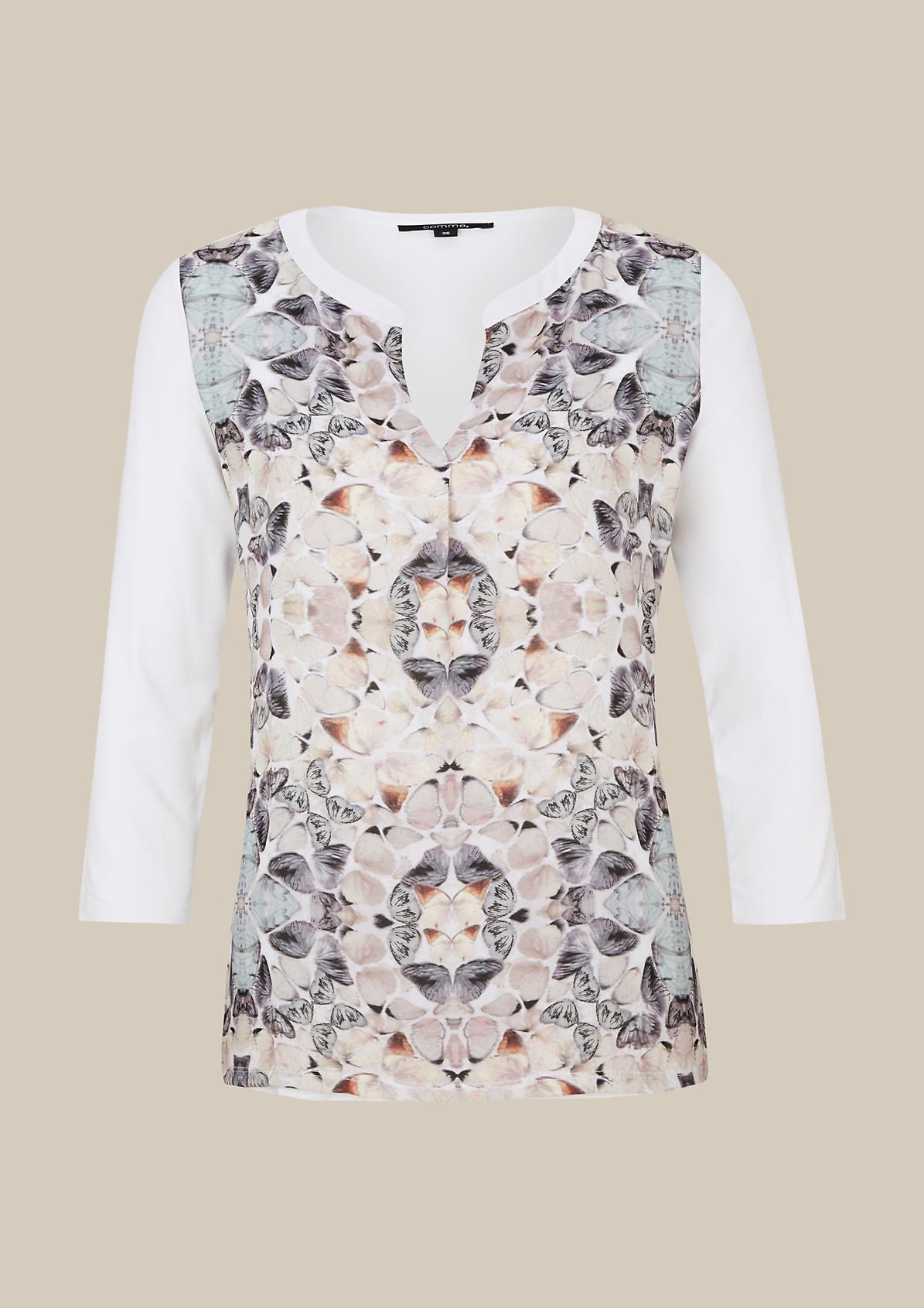 Raffiniertes 3/4-Arm Shirt im schönen Materialmix