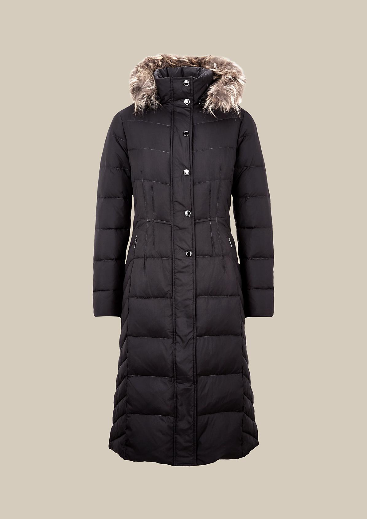 Warmer Wintermantel in Steppoptik