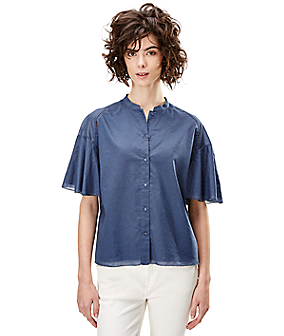 Blouse with flounce sleeves F2162103 from liebeskind