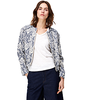 Bomber jacket with fringe details F1164003 from liebeskind