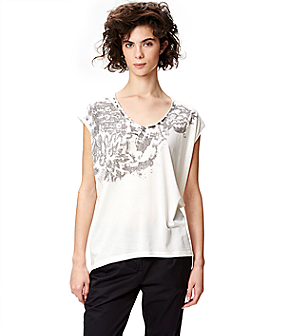Jersey T-shirt with a print S1161101 from liebeskind