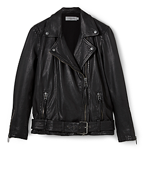 Leather biker jacket F1175000 from liebeskind