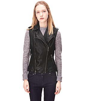 Leather waistcoat H1167600 from liebeskind