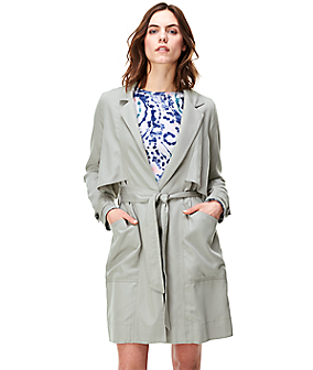 Modern trench coat F2164300 from liebeskind