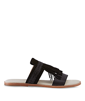 Mules with fringe details LS0099 from liebeskind