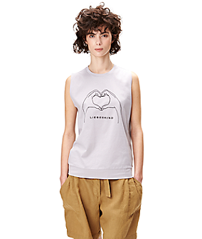 Top with embroidery F2161003 from liebeskind