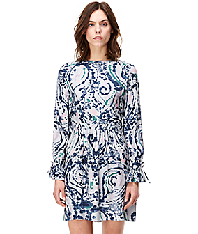 Viscose dress with an all-over print F1162250 from liebeskind