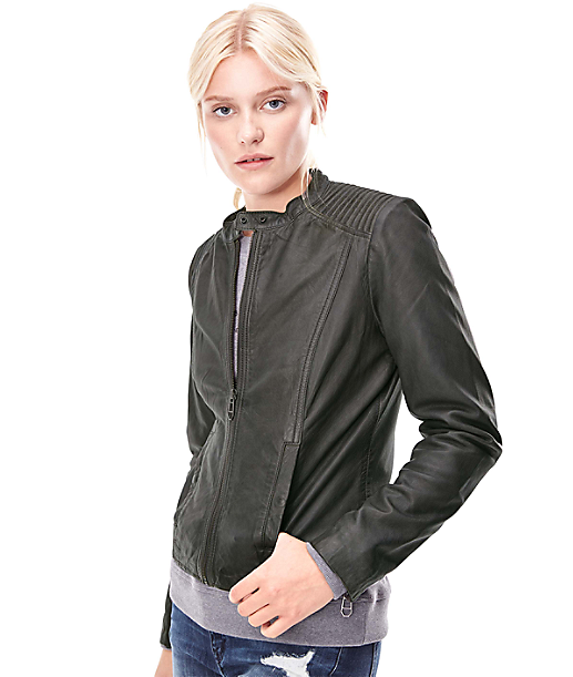 Biker-style leather jacket H1167300 from liebeskind