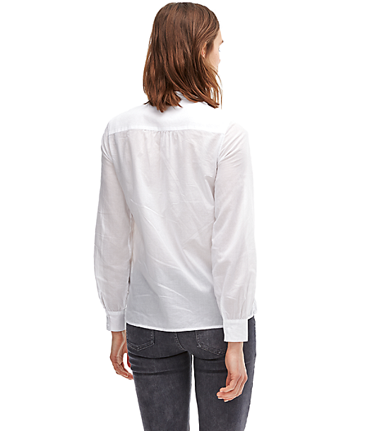 Blouse with a pussycat bow F2162106 from liebeskind
