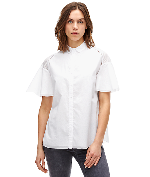 Boxy short sleeve blouse F2162100 from liebeskind