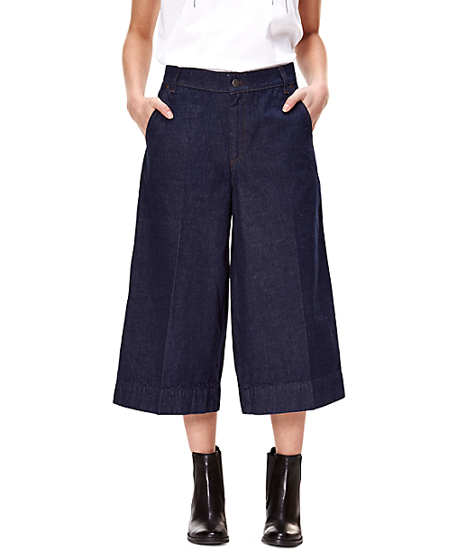 Culottes with pressed pleats F1168103 from liebeskind