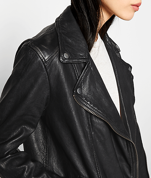 Leather biker jacket F1175000 from liebeskind