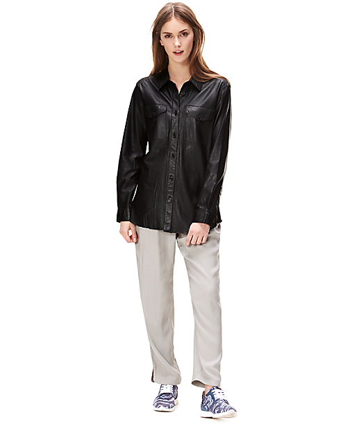 Leather shirt F1167103 from liebeskind