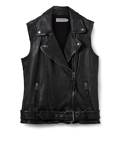 Leather waistcoat F1175006 from liebeskind