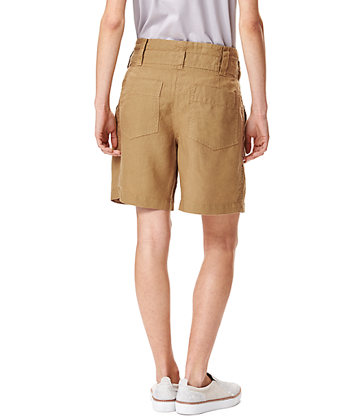 Leinenhose mit Paperbag-Taille S2164100