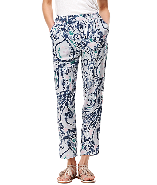Patterned viscose trousers F1162256 from liebeskind