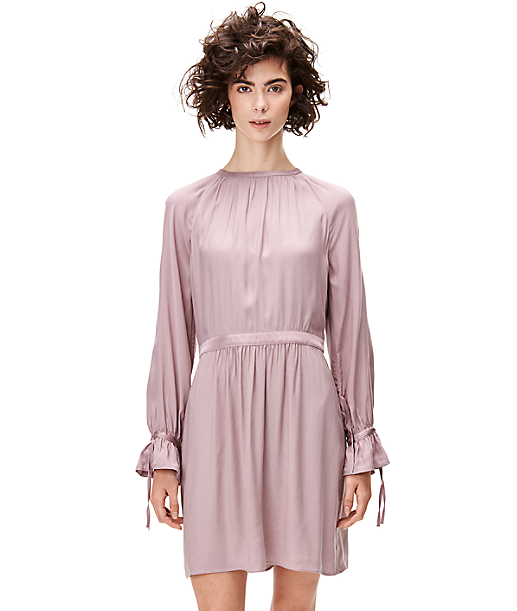 Shirt dress with gathers F1162200 from liebeskind
