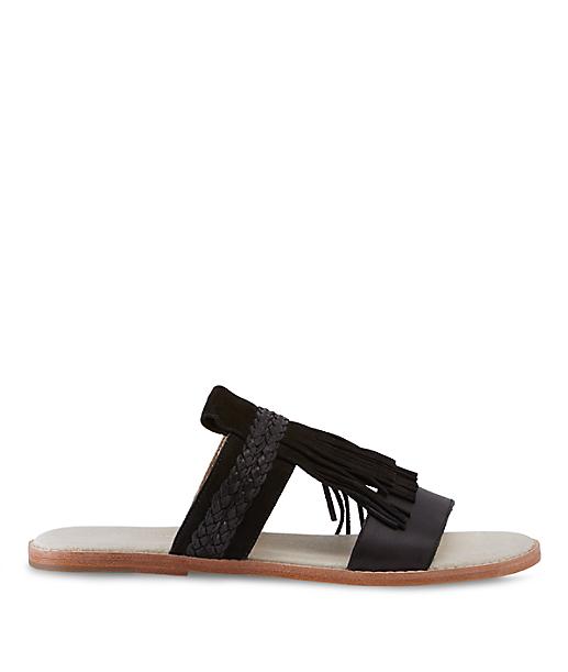 Slip-on fringe sandal LS0099 from liebeskind