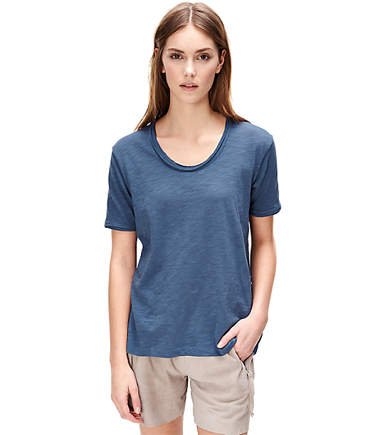 T-shirt with a wide round neckline F1161403 from liebeskind