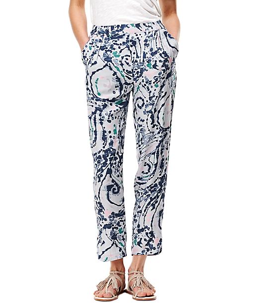 Viskose-Pants mit Muster F1162256