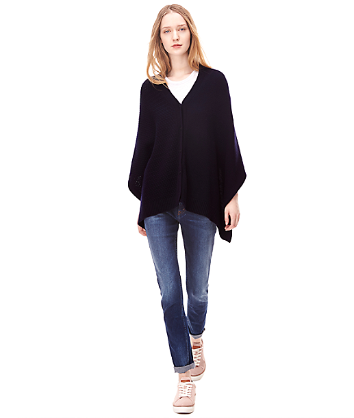 Wool poncho H2165204 from liebeskind