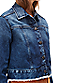 Jeansjacke mit Fransensaum F1168101