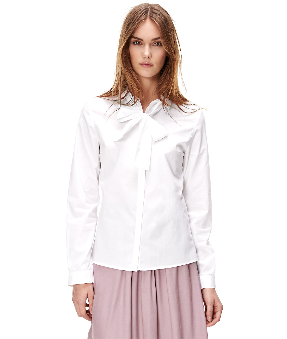 Blouse with a pussy bow collar F1162000 from liebeskind