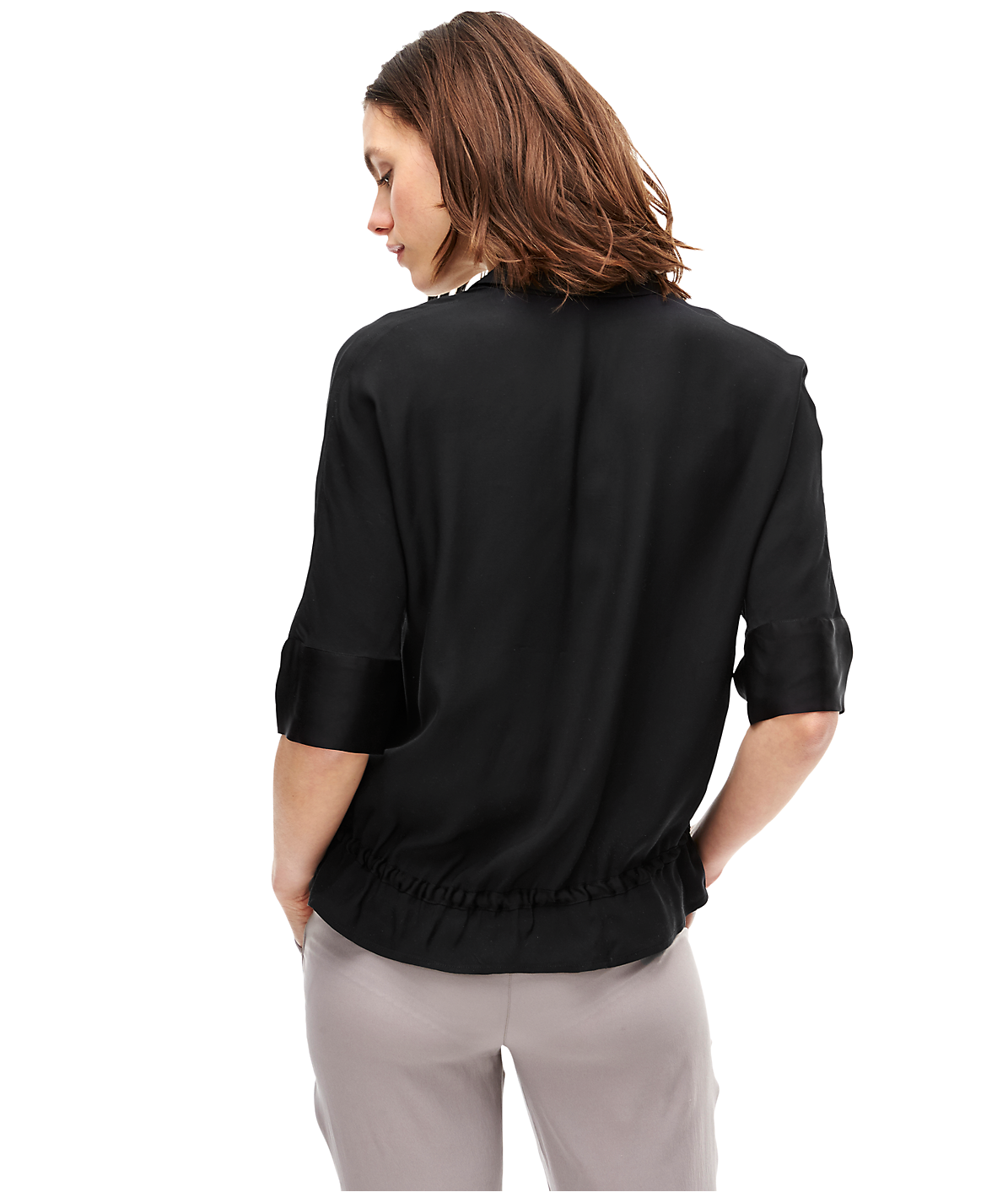 Blouse with gathers F1162203 from liebeskind