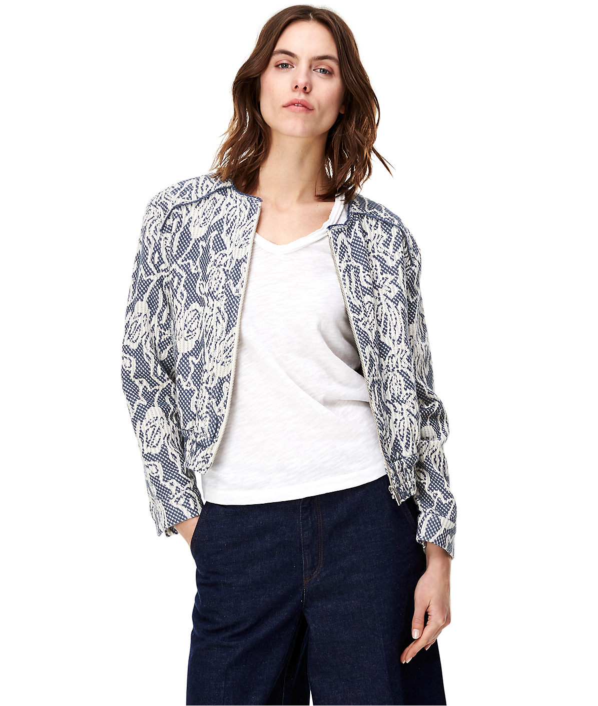 Bomber jacket with fringe details F1164003 from liebeskind