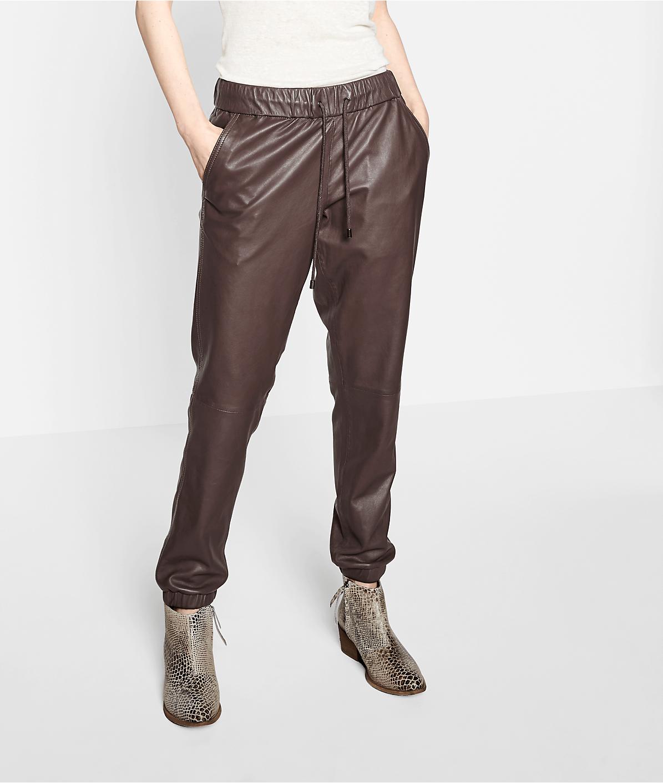 Joggpants aus Leder F1175001