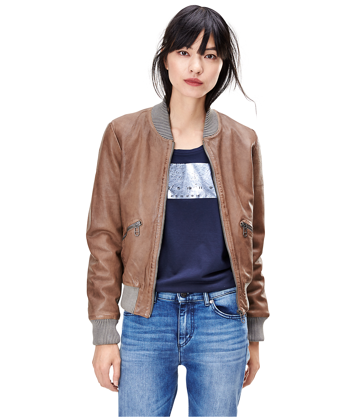 Leather jacket W1167400 from liebeskind