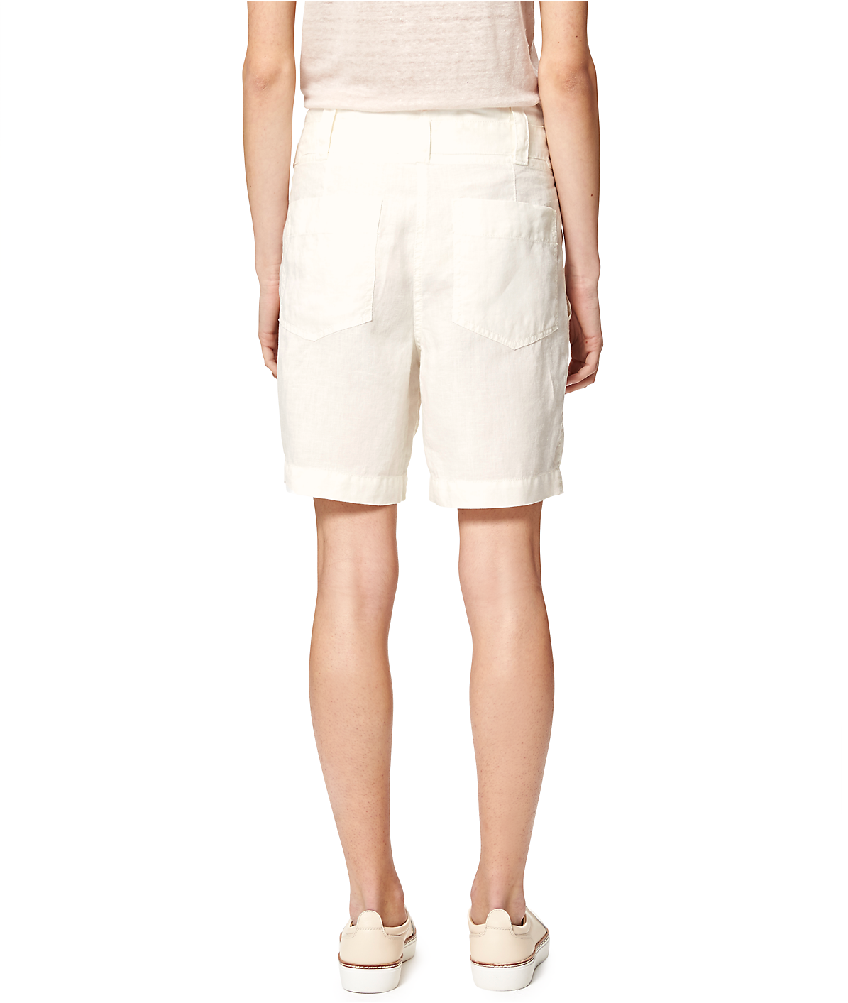 Leinenhose mit Paperbag-Taille S1164100