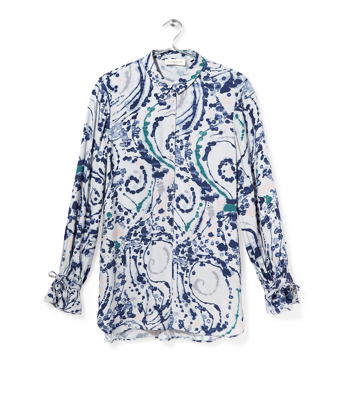 Long blouse with an all-over print F1162251 from liebeskind
