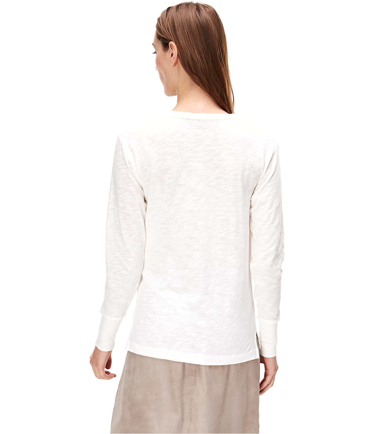 Long sleeve slub yarn top F1161404 from liebeskind