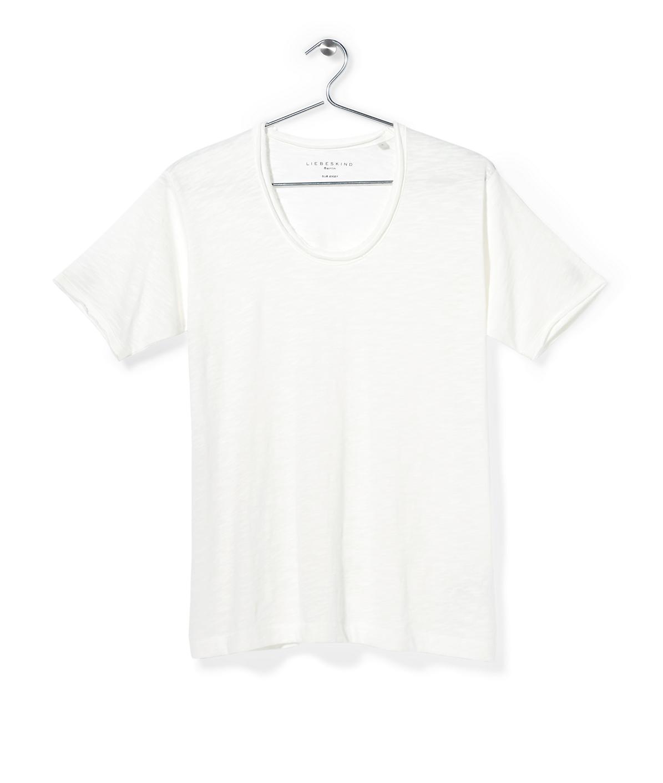 T-Shirt mit weitem Rundhals F1161403