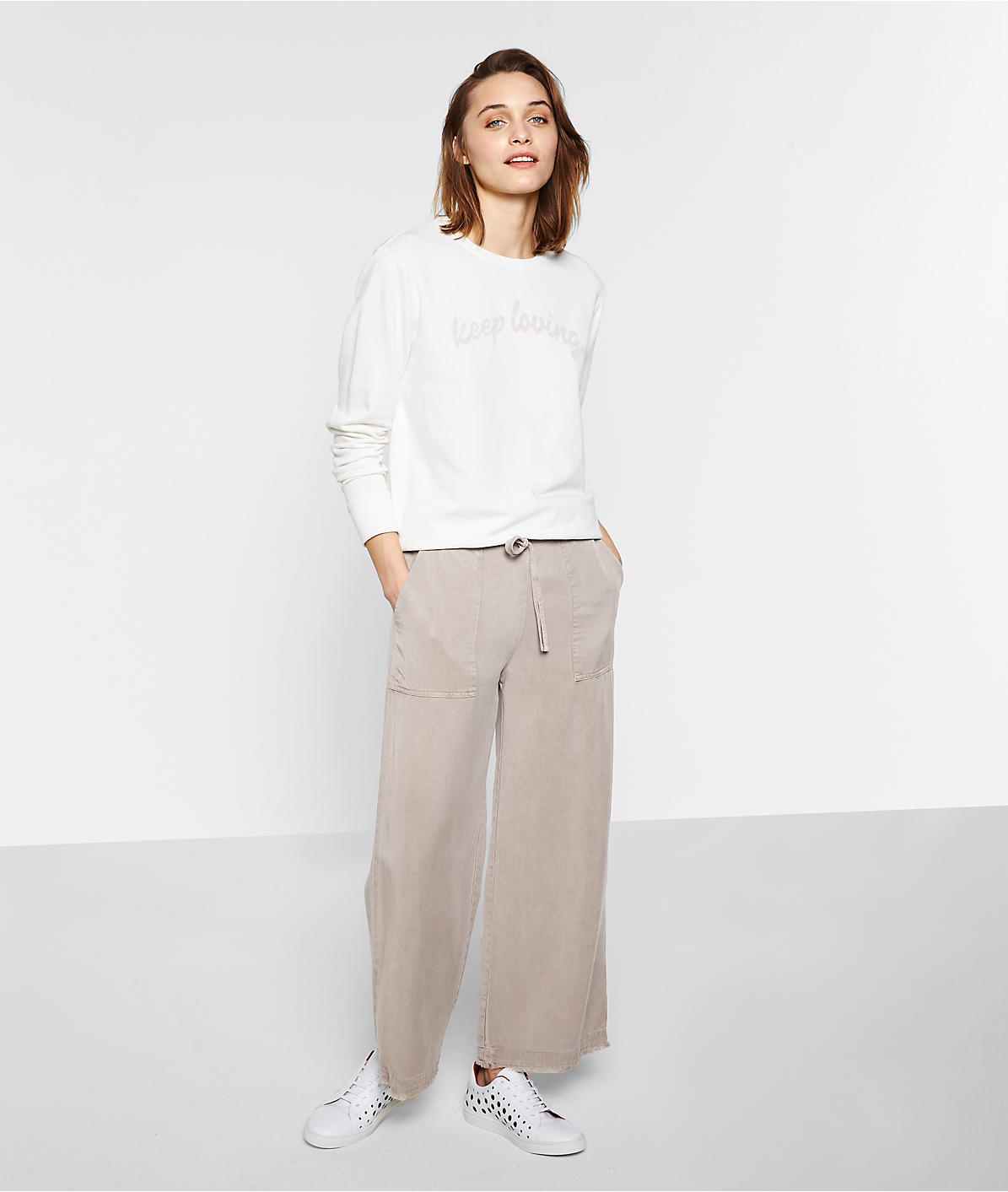 Twill trousers S1172010 from liebeskind