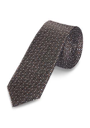 <ul><li>Zijden stropdas met een gemêleerde look