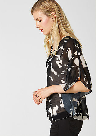 2-in-1 batwing top with a stretch top from s.Oliver