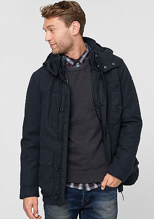 2-in-1 down jacket with a wool finish from s.Oliver