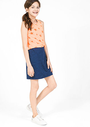 2-in-1 dress with neon top from s.Oliver