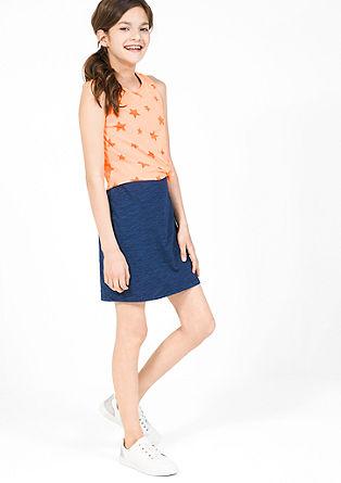 2-in-1 jurk met neonkleurige top